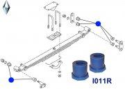 Рессорная втулка, передняя подвеска, (23-40-40)