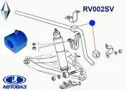 Втулка стабилизатора, передней подвески,  I.D-20мм