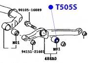 Сайлентблок передней тяги 16.2*49*38.2*40
