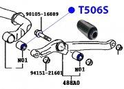 Сайлентблок переднего стабилизатора 16.2*50*36.2*40.6