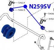 Втулка переднего стабилизатора D18